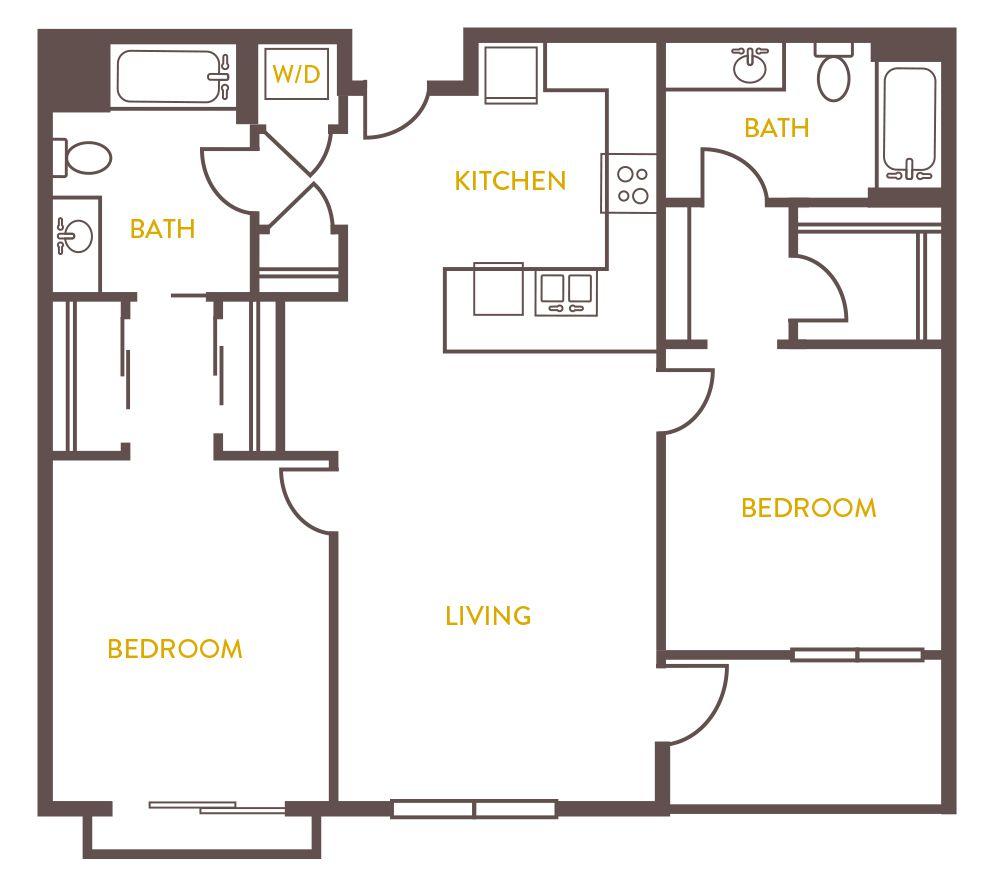 100 650 Sq Ft Floor Plan 2 Bedroom Tiny House
